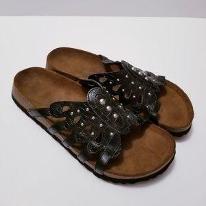 Birkenstock Betula Sz 9 Brown/Black Summer Sandals